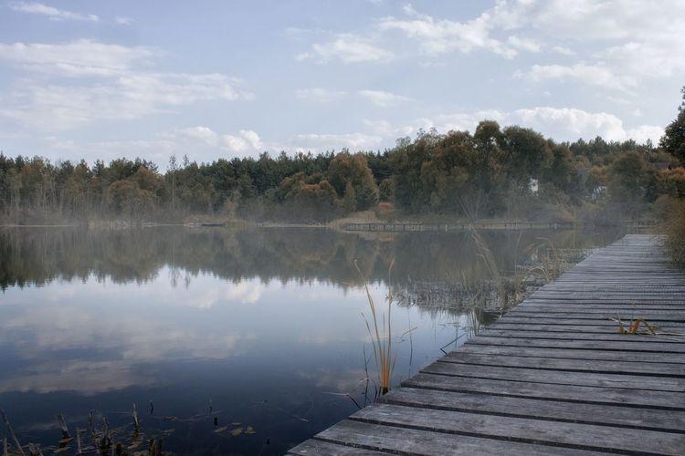 Lagoon Zalew Jeziorko Fog Photomanipulation Photo Photography Sesion Canon Sight Water Trees Polandsights