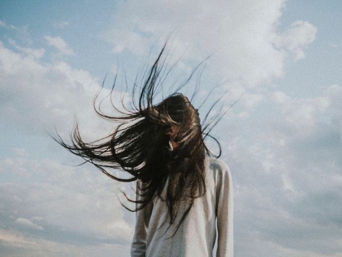 Flick your hair back and forth Eyem Best Shots THESE are my friends Long Hair Human Hair One Person Cloud - Sky Sky Wind Real People This Is Masculinity
