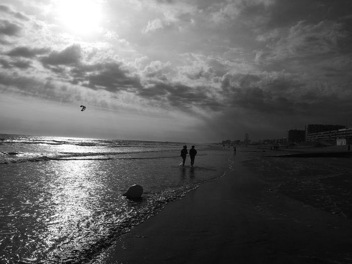Plage de Saint Jean de Monts Plage Saintjeandemonts Beach Sea Water Sand Sky Cloud - Sky Nature Beauty In Nature Horizon Over Water Outdoors