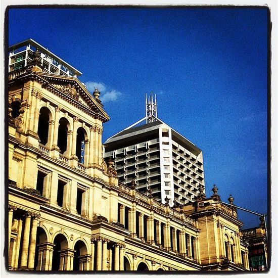 The old Treasury Building, Brisbane Brisbane Travel Cityscape Building Modern Old Heritage Sandstone Casino Hotel