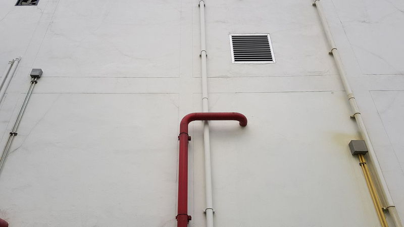 No People Red Day Indoors  Architecture Pipeline Gas Pipes Gas Pipeline