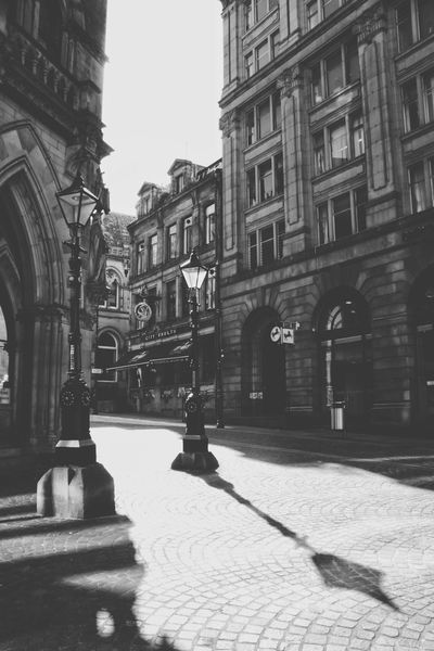 Streetphotography Building Exterior Architecture Outdoors Day Built Structure History Sunlight No People City Travel Destinations Woolexchange Sculpture Bradford City Sunlight Street Westyorkshire Architecture