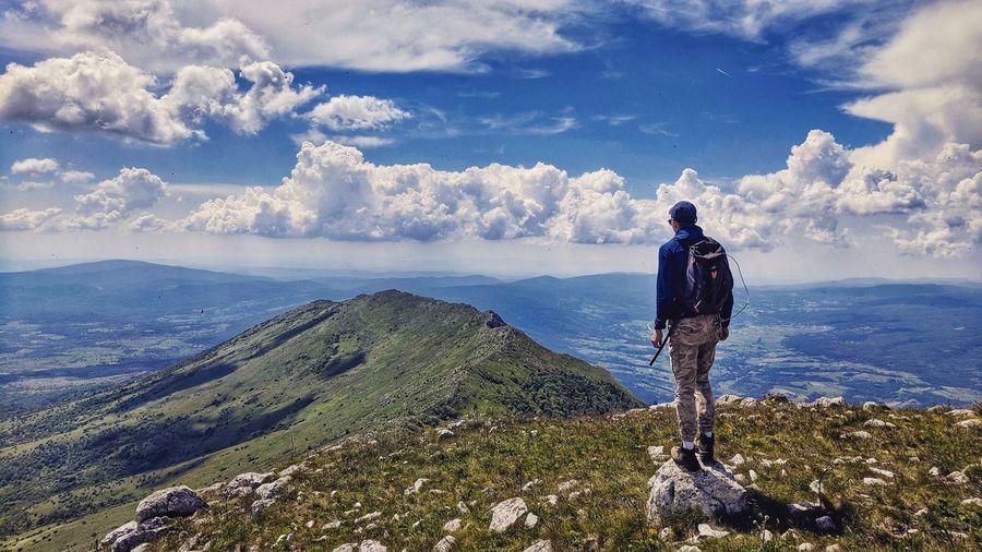 Hiking on the Rtanj mountain Serbia Rtanj šiljak EyeEm Selects Water Full Length Men Standing Sea Rear View Sky Hiker