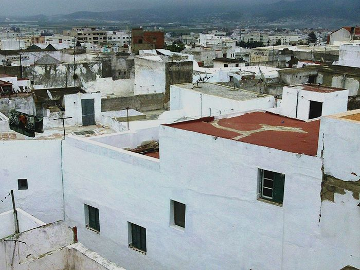 Moroccan Rooftops Morroco Rooftops Building Exterior Architecture Built Structure Day Residential Building Full Frame No People Outdoors Whitewashed Cityscape City Sky Morrocan Rooftops Morrocan City Walls