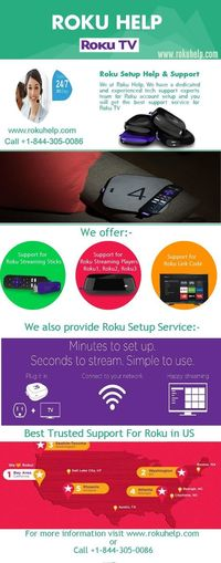 Want support for your Roku Player, Streaming Stick and many more Call +1-844-305-0086 or visit www.rokuhelp.com Roku Roku Account Setup Roku Help Roku Set Up Roku Technical Support Set Up Roku Account Www Roku Com Support Www Support Roku Com