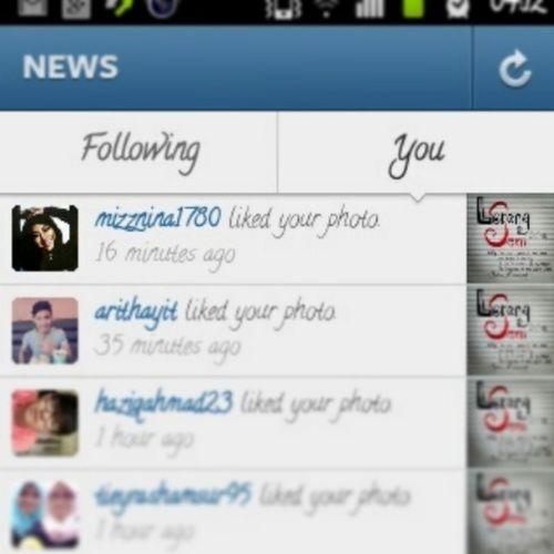 Ya Allah its @mizznina1780 who liked my picture !!!! Wahohohohoho *sorry jakun sikit* but its Mizz Nina kowt !!! :) :) :) ^_^ Celebrity Malaysia Art Awesome