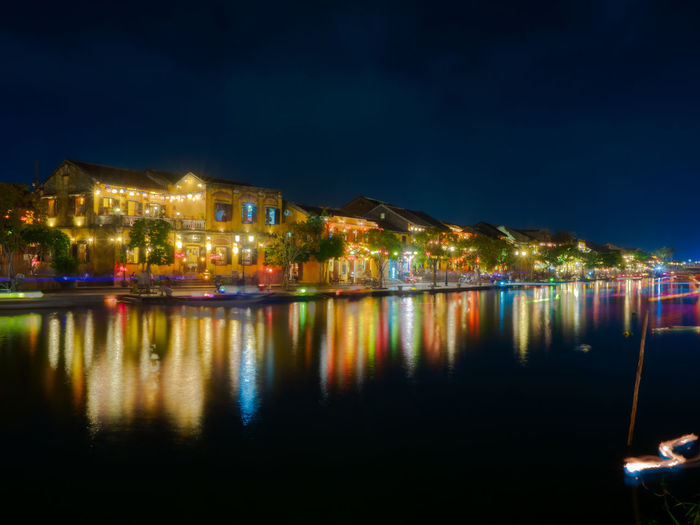 Illuminated Night Architecture Building Exterior Water Reflection Building House Built Structure Residential District City Dusk No People Nature Lighting Equipment Outdoors Nautical Vessel Sky Luxury Dark Bay Apartment