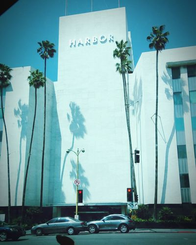 """Long Beach, California """"Harbor"""" Day Outdoors Built Structure No People Tree City Building Exterior Road Sign Architecture Sky Long Beach, California USA"""