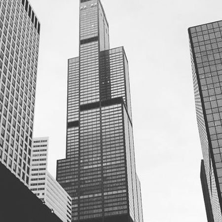 One my favorite building Chicago Willistower Searstower Blackandwhite Downtown Tall Skyscraper Engeenering Icon