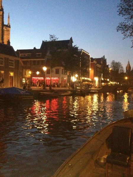 Amsterdam Holland Netherlands Tour Red Light District Canal Holiday Nightshot