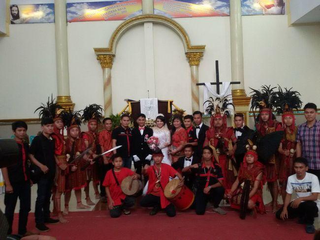 Warriors , Sister Wedding Church Family , Brothers, Red, Minahasa , Culture , Traditional , Kabasaran , Proud, Teen