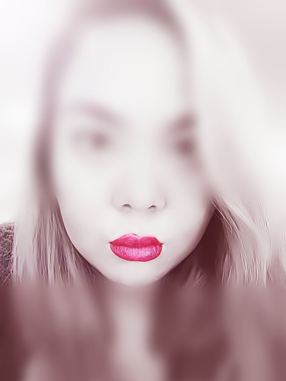 one person, real people, young adult, young women, close-up, day, outdoors, red lipstick, human lips, people