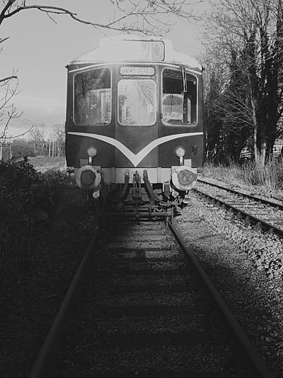 Train. Transportation Mode Of Transport Railroad Track Rail Transportation Public Transportation Outdoors No People Day Tracks Train Traintracks Walksinthewoods Straight Forward Off The Rails Northyorkshire Northyorkshiremoorsrailway Phoyography Train Tracks Train - Vehicle Balck And White Photography