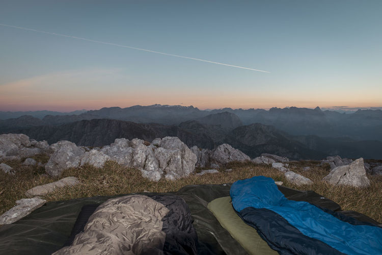 Bivouac Bivvy Blue Hiking Hohes Brett Morning Mountains Sky Sleeping Bag Sunrise Camp Enjoy The New Normal Finding New Frontiers Miles Away Go Higher