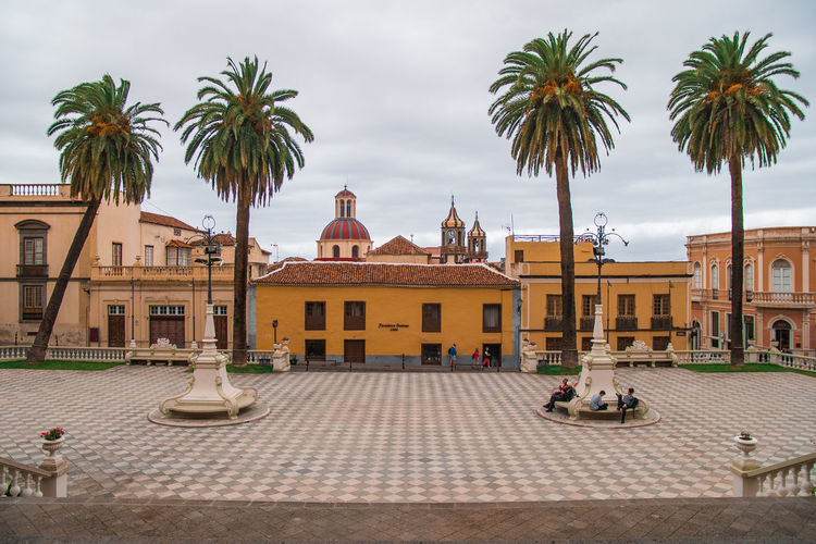 Town square of la orotava, canary islands, spain