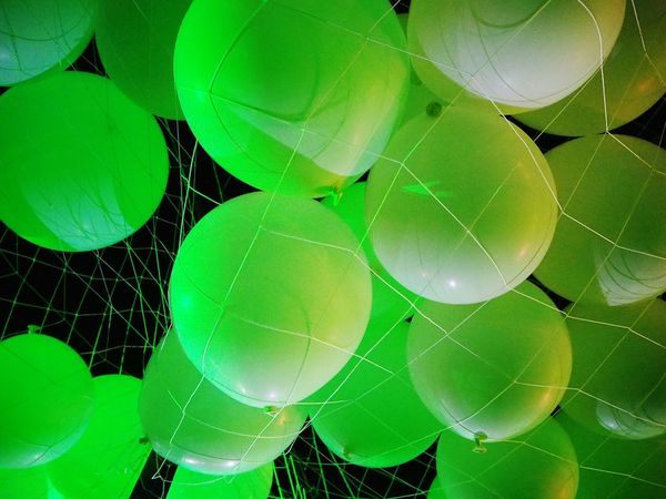 Spider Web Green Color Fragility Concentric Balloons Large Group Of Objects Green Light Light Reflection White Balloons Green Ballons Minimalism Night Sky Backgrounds Background Green Background Ballons Background The Week On EyeEm Perspectives On Nature Be. Ready. Go Higher Stories From The City