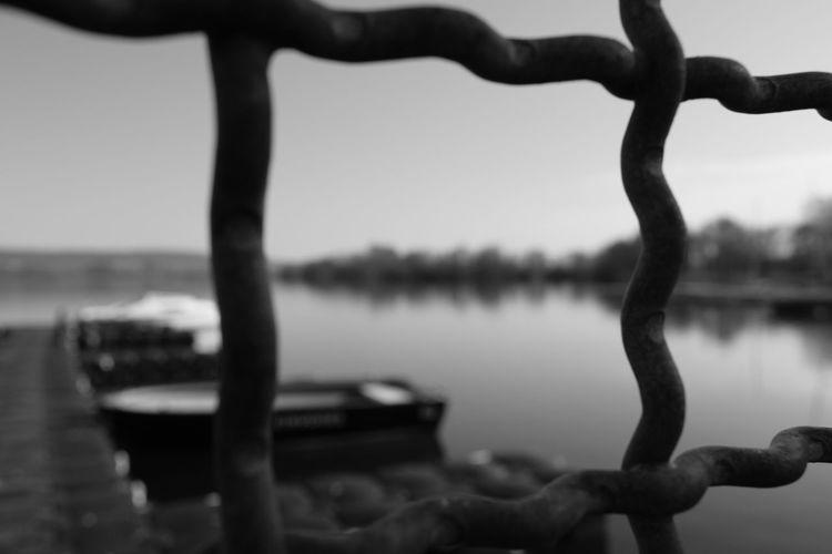 Dock Nofilter EyeEm Black&white! EyeEm Gallery Eyeemphotography EyeEm Selects Shadow Water Lake Tree Sky Close-up Tranquil Scene Countryside Boat Lakeside Waterfront Sailing Boat Calm