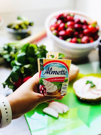 #almette #breakfast #morning Human Hand Hand Food And Drink Food One Person Women Lifestyles