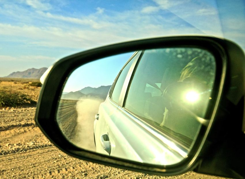 Africa Car Travel Feel The Journey Holiday Land Vehicle Mode Of Transport Namibia Reflection Road Road Trip Side-view Mirror Tourism Transportation Travel Destinations Travel Photography