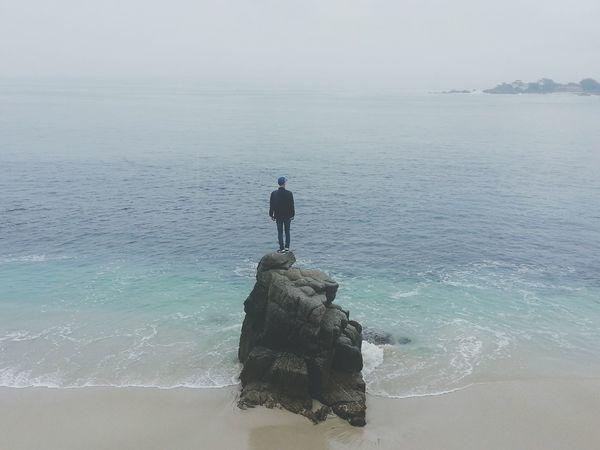 Bonding with Nature Beach Pacific Ocean Coastline Traveling America Road Trip Cali Monterey Sand Nature Waves Rock Scenery