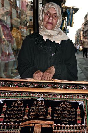 Woman in Bazaar Bazaar Damascus  Market Middle East Middle Eastern Portrait Of A Woman Syria  Middle Eastern Woman Portrait Souk Women Around The World
