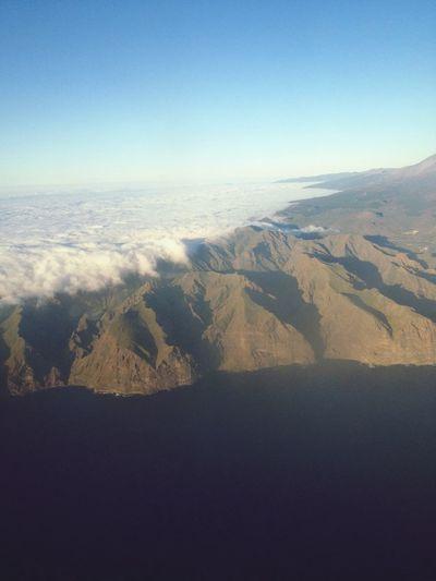 Incredible Clouds tumbling over Mt Teide looks like Waves