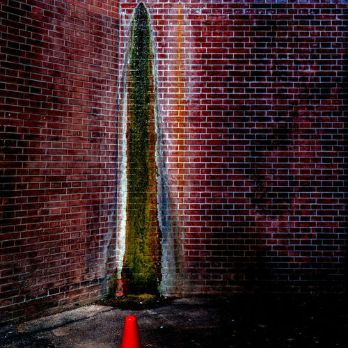 Projection of Cone Brick Wall Brick Wall Wall - Building Feature Architecture Red No People Built Structure Motion Day Long Exposure Outdoors Water Nature Building Exterior Blurred Motion Pattern Direction EyeEmNewHere Cone Red HDR Tyokyo