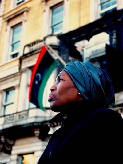 No Borders! No Slavery! Protest demanding an end to auctioning of black Africans in Libya. Following reports of people auctions in Libya. Libyan Embassy. London. UK. 26/11/2017 Libya No Borders! No Slavery! Black Lives Matter London News London Olympus Stevesevilempire Steve Merrick People Auctions Photojournalism Slavery Still Exists Protesters Protestor Slavery Zuiko Protest Woman