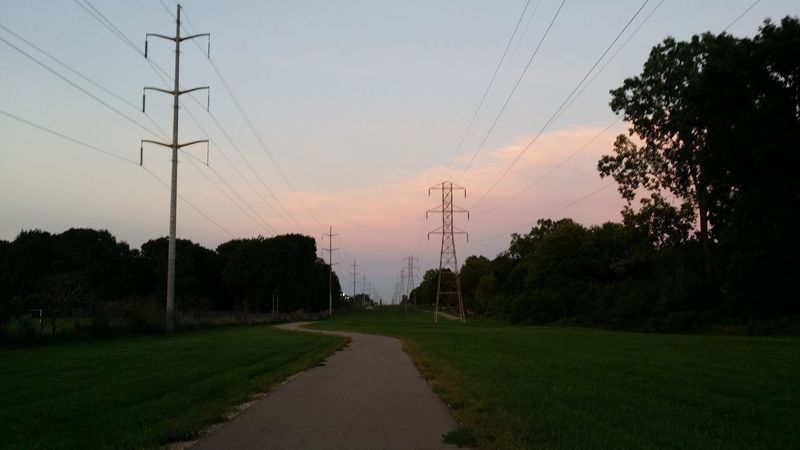 Beauty In Nature Cable Connection Day Electricity  Electricity Pylon Field Fuel And Power Generation Grass Landscape Nature No People Outdoors Power Line  Power Supply Sky Sunset Technology Telephone Line Tree