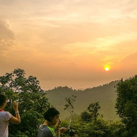 Early morning sunrise hike to panorama hill Sungailembing Malaysia Hiking Travelling Volunteering Panorama Hill Pahang