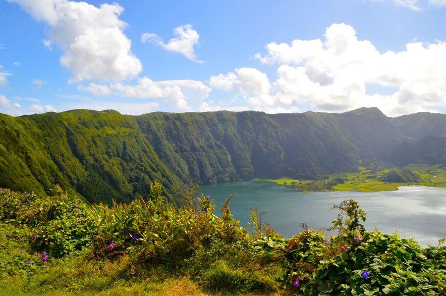 Landscape Azores Crater Lake Blue Sky Skyporn Clouds Nature