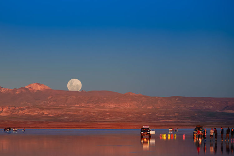 Moonrise at Salar de Uyuni (Salt Flat), Bolivia Moonrise Moonrising Moon Moon Surface Sky Beauty In Nature Blue Full Moon Salt Flat Salar De Uyuni Uyuni Salt Flat Uyuni Uyuni, Bolivia Bolivia
