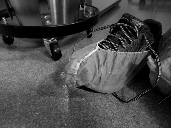 My work shoes before surgery. #nurselife Before Below Blackandwhite Cellphone Photography Close-up Floor Hard Indoors  Love Low Angle View Monochrome No People Nurse Out Of The Box Pain Passion Personal Perspective Rocks Sneakers Stainless Steel  Superhero Table Tucson Arizona  Under