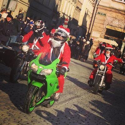 Santa Bikers in the Krakow