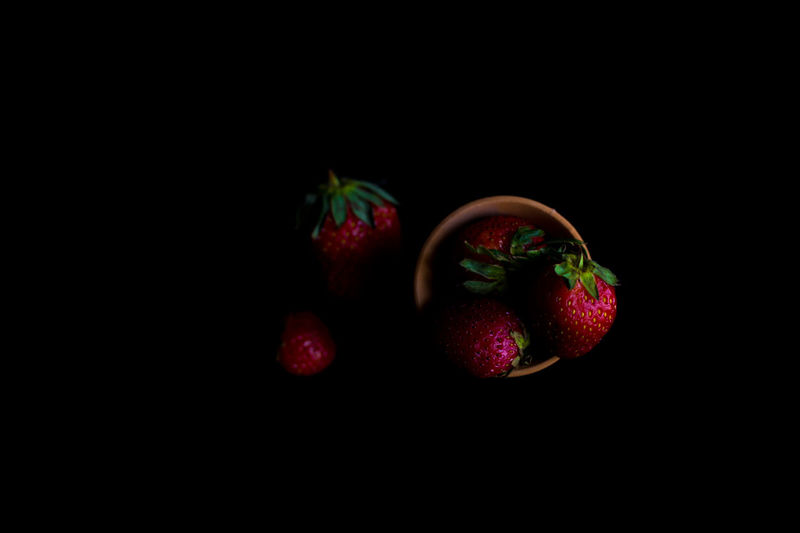 group Black Background Copy Space Christmas Red No People Fruit Studio Shot Food And Drink Close-up Food Freshness Indoors