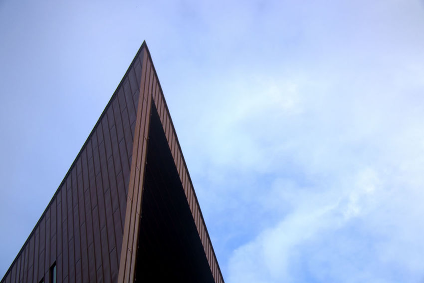 Sky Architecture Built Structure Low Angle View Building Exterior Nature Cloud - Sky No People Blue Day Triangle Shape Building Outdoors Copy Space City Modern High Section Pattern Connection University Of Limerick Glucksman