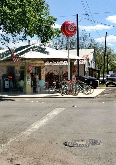 Street Transportation Store Outdoors City Road Sign Day Tree No People Sky Architecture Bicycles Bicycle Shop Country Store Old Store Old Building  Rural Scene America Southern States Deep South Frozen In Time Corner Store Back In Time Old-fashioned Architecture