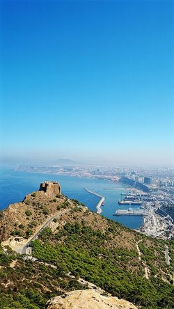 Oran  Algeria Mountain View City View  Bluesky And Bluesea Seascape