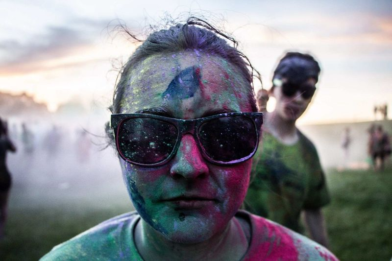 burst of color Color Paint Color Run Holi Portrait Headshot Men Togetherness Front View Close-up Sunglasses Festival Goer Head And Shoulders Live Event Pretty The Portraitist - 2018 EyeEm Awards The Photojournalist - 2018 EyeEm Awards