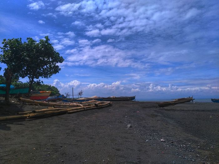 Sky Cloud - Sky Sea Water Nautical Vessel Transportation Outdoors Beauty In Nature No People Nature Tranquility Day Beach Horizon Over Water Itsmorefuninthephilippines Freshness Nature_perfection Choosephilippines
