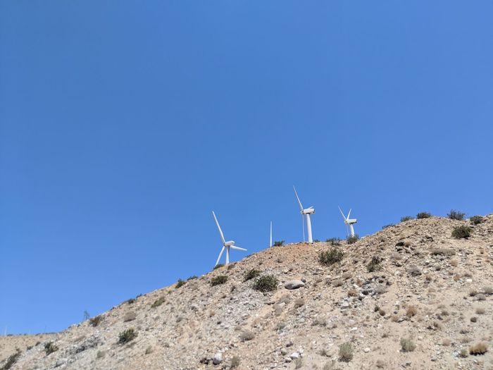 Harvesting wind power in the Palm Desert in California California Palm Desert, CA Wind Farm No People EyeEm Selects Outdoors Blue Sky Pixel 2