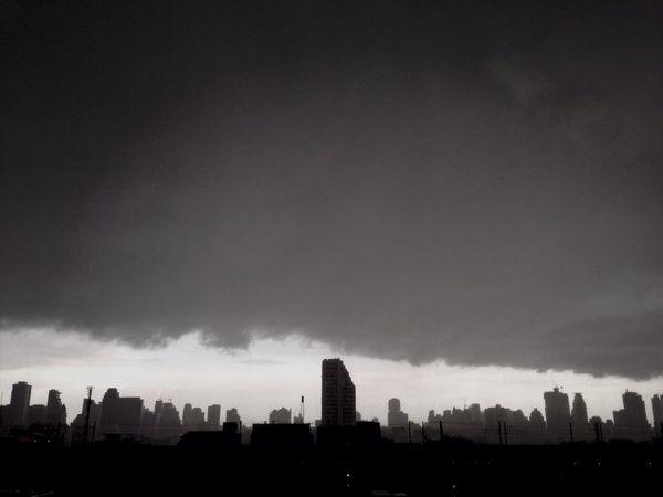 Blackandwhite Rain Clouds Landscape