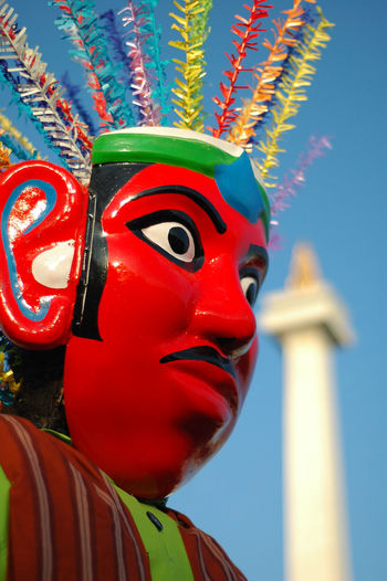 Ondel-ondel Jakarta Jakarta Betawi Ondel-ondel Human Representation Monas INDONESIA Face Color Red Puppet