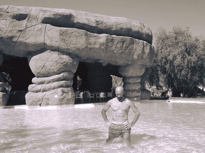 Poll Shirtless Statue Sculpture Rock - Object One Man Only Adults Only Adult