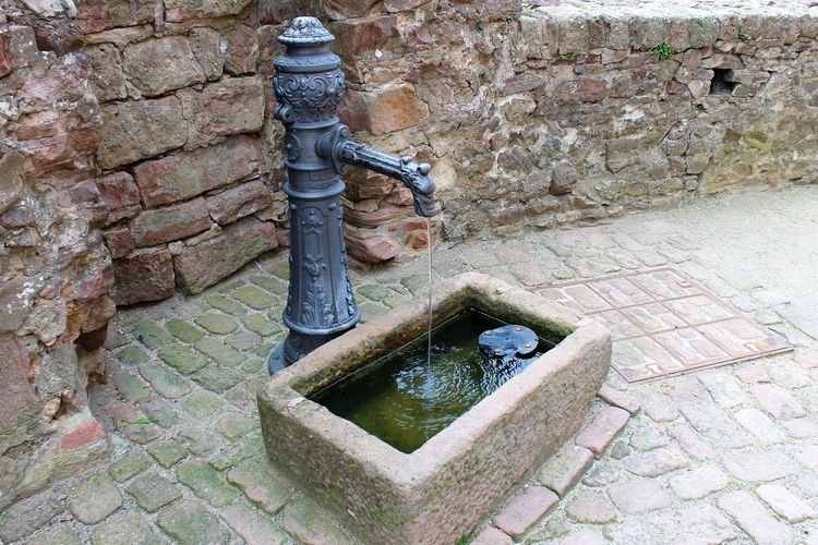 small dinkingwater spring Architecture Brick Wall Drinking Water Fountain Drinking Water Spring Drinkwater Fountain Small Spring Spring Water
