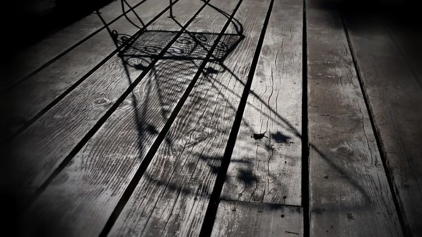 Shadow Low Angle View Close-up Chairs Outside