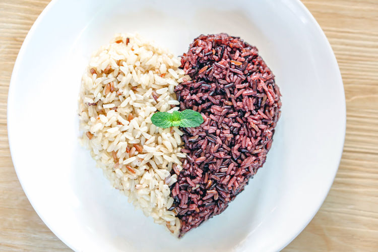 brown rice and