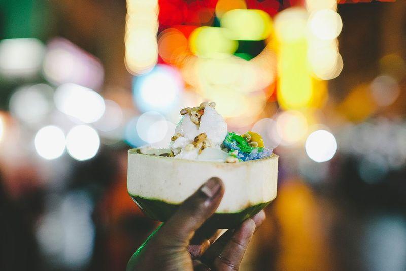 The coconut ice cream