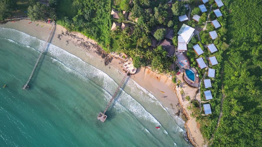 Khao kood top view. Family Topview Nature Water Tree Sea Beach Nautical Vessel Aerial View Sand High Angle View Drone