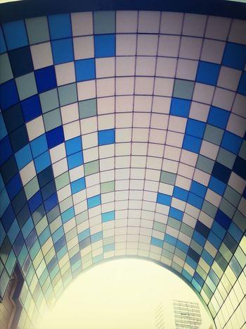 Carreaux Bleu ETblanc